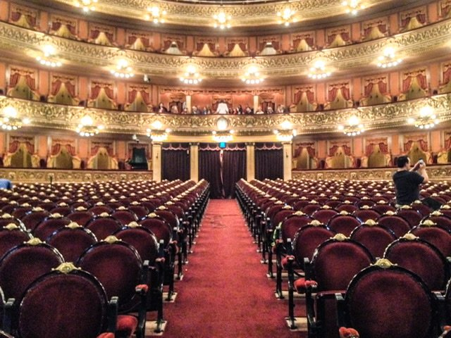 The main auditorium in Teatro Colon